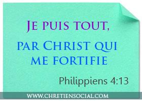 Je puis tout par Christ qui me fortifie