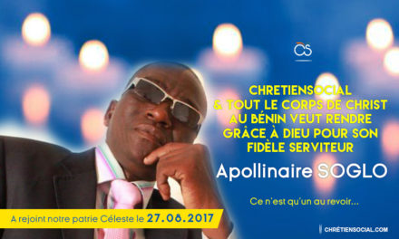 Hommage à Apollinaire SOGLO – Wanyiyi Towé