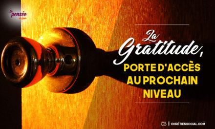 La gratitude, porte d'accès au prochain niveau