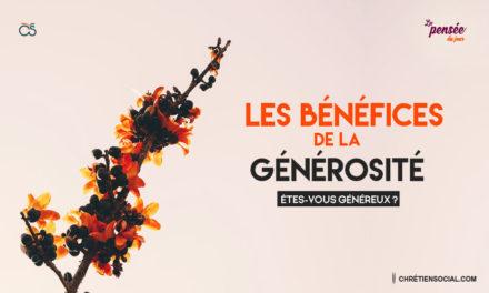 Les bénéfices de la générosité