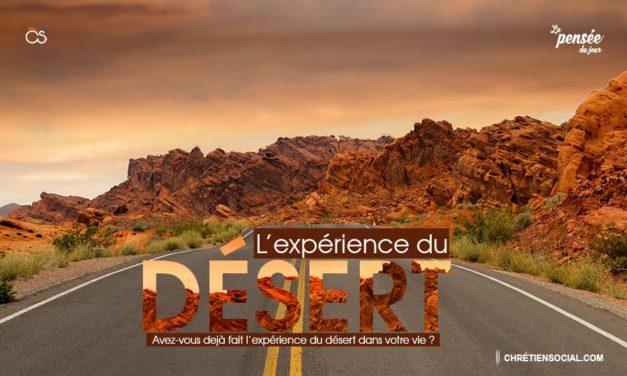 L'expérience du désert
