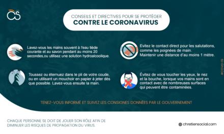 Conseils et directives pour se protéger contre le coronavirus (COVID-19)
