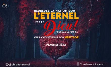 Heureuse la nation dont l'Eternel est le Dieu!