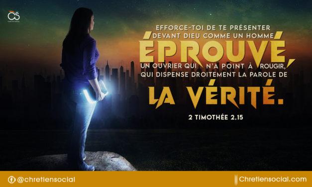 Efforce-toi de te présenter devant Dieu comme un homme éprouvé