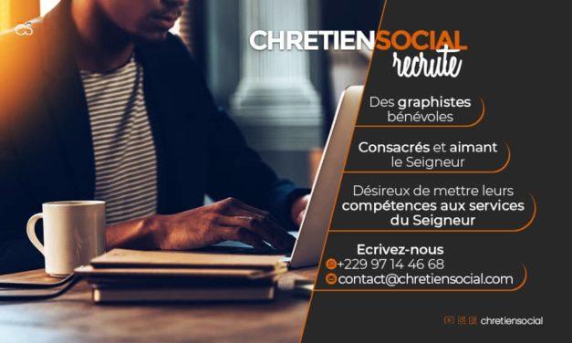 Recrutement de graphiste bénévoles pour Chrétien Social