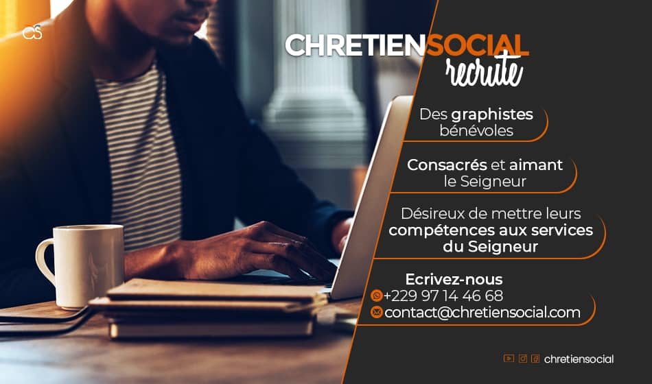 Recrutement de graphiste - Chrétien Social